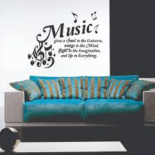Wall Decal Music Gives A Soul To The Universe Wall Decal Wall Decal Musica Cinema Music Ambiance Sticker