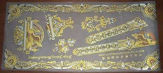Nos Singer Sewing Machine Decal Set Sphinx Aka Memphis For Model 15 Full Size 11 40 Picclick Uk