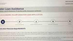 disaster loans ...