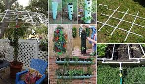diy gardening projects made with pvc pipes