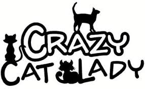 Amazon Com Car Stickers 13 5cm8cm Fashion Animal Crazy Cat Lady Window Vinyl Sticker Car Stickers Color Name Black Home Kitchen