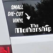 Cut Vinyl The Mothership Window Decal Ufo For Mom S Etsy