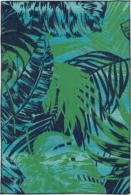 blue palm indoor outdoor area rug