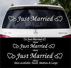 Just Married Wedding Car Window Decoration Vinyl Decal Sticker Sign 3 Sizes Zc Ebay