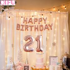Qifu 21 Birthday Balloon 21 Years Birthday Decoration 21st Birthday Party Decor Forever Girl Party Decor Adult Party Supplies Party Diy Decorations Aliexpress
