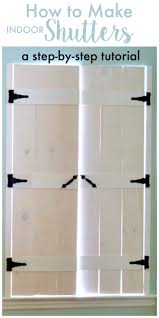 how to make indoor shutters create
