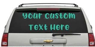 Custom Car Window Decals Promo Graphics And Printing