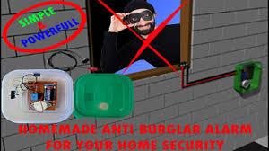 homemade anti burglar alarm for home