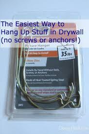 hang stuff on drywall and sheetrock