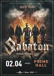 Minsk, Prime Hall | Sabaton Official Website