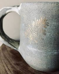 Smokey Leaf Mug By Fig Tree Pots Seen At Private Residence Chicago Wescover