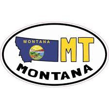 5inx3in Oval Mt Montana Sticker Vinyl Car Truck Bumper Decal Cup Stickers Walmart Com Walmart Com