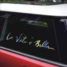 Stickers On Car Styling 40 8cm New Style Life Is Beautiful Car Stickers Funny Vinyl Decal Motorcycle Auto Stickers And Decals Car Stickers Aliexpress