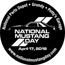 2018 National Mustang Day Window Decal