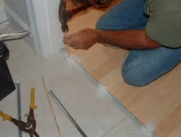 installing laminate transitions step