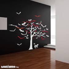 Halloween Tree Bats Wall Decal Bat Wall Decor Wallums