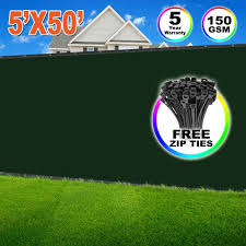 Evergrow 5 X 50 Dark Green Fence Privacy Screen Windscreen Shade Fabric Mesh Tarp Mesh Brass Grommets Free Zip Ties With 5 Years Warranty 90 Uv Blockage G Fence 5x50 Green Walmart Com Walmart Com