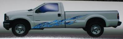 Flames Full Color Side Graphics 896 Large