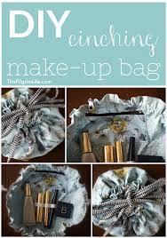 diy cinching make up bag my favorite