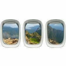 East Urban Home 3 Piece Peru Machu Picchu Mountains Airplane Window Wall Decal Set Wayfair