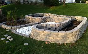 cinder block raised garden beds