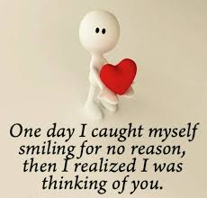 love quote one day i caught myself smiling for no reason love