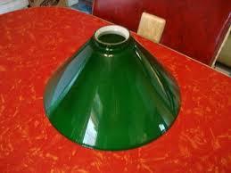 vintage vianne france green glass lamp