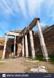 Hall with the Doric Pillars in Villa Adriana, Hadrian's Villa ...