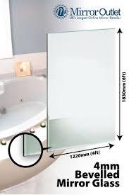 large bevelled bathroom mirror glass