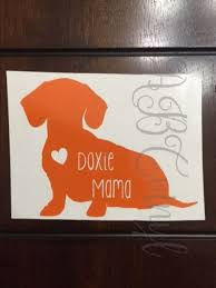 Doxie Mama Dachshund Vinyl Decal Yeti Rtic Cup Decal Laptop Decal Car Decal Weiner Dog Animal Lover Gift All Co Gifts For Pet Lovers Rtic Cup Decal Doxie