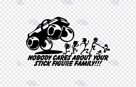 Decal Sticker Stick Figure Family Car Running Stick Text Logo Monochrome Png Pngwing