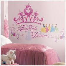 Princess Crown Tiara Wall Art Sticker Girls Bedroom Princess Themed Room Decal