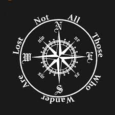 Compass Wall Sticker Waterproof Window Decal Not All Those Who Wander Are Lost Car Styling Decals Computer Sticker Home Decor Ar Stickers Home Decor Home Decorstickers Home Aliexpress