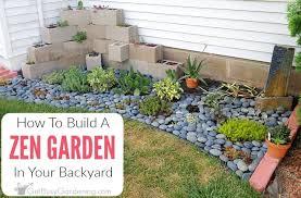 zen garden in your backyard