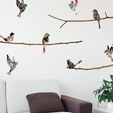 Pin By Kimberly On H 3me Bird Wall Decals Bird On Branch Cool Walls