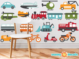 Transportation Theme Fabric Wall Decals For Nursery And Kids Etsy Fabric Wall Decals Nursery Wall Decals Kids Wall Decals