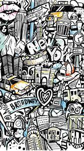 doodle art wallpapers wallpaper cave