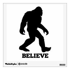 Bigfoot Believe Wall Decal Sasquatch Wall Sticker Zazzle Com