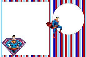 Tarjetas De Invitacion Cumpleanos Superman Para Bajar Gratis 3 Hd