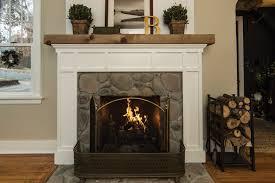 river stone fireplace omaha