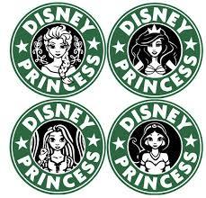 Disney Princess Starbucks Decal Disney Decals Disney Starbucks Disney Diy