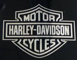 Chrome Metallic Harley Davidson Logo Cutz Rear Window Decal For Sale Online