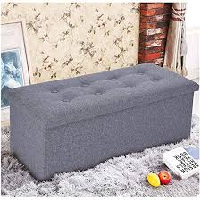 Storage Ottoman For Kids Bedroom Ship From Usa Cnebo Linen Foldable Storage Chest Footrest Padded Seat Small Space Furniture Storage Stool Sofa Bench Buy Online In Colombia Cnebo Fashion Products