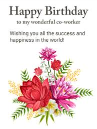 gorgeous flower happy birthday card for