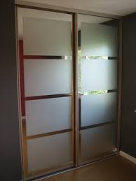 diy frosted mirror glass closet