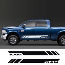 Car Side Stripes Stickers Auto Vinyl Film Decals For Dodge Ram Decoration Diy Automobiles Sports Styling Car Tuning Accessories Car Stickers Aliexpress