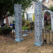 How To Make Diy Halloween Cemetery Pillars The Easy Way Entertaining Diva From House To Home