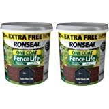 Ronseal Rslflbon4lav One Coat Fence Life Tudor Black Oak New 5 Litres Amazon Co Uk Diy Tools