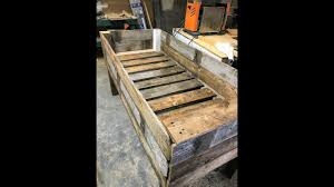 Building A Raised Garden Planter Box From Old Fence Youtube