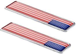 Amazon Com 1797 Car Stickers Decals Accessories Us Usa America Flag Stars Stripes Metal Vehicle Decorations Emblem Door Bumper Trunk Tailgate Aluminum Alloy Waterproof Cute Funny Cool White Red Blue Pack Of 2